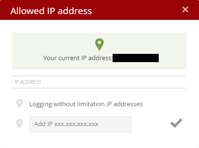 Allowed IP address